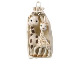 Afbeelding Set knuffel giraf + Sophie de giraf