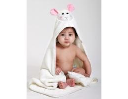 Image Baby hooded towel - Lola the Lamb